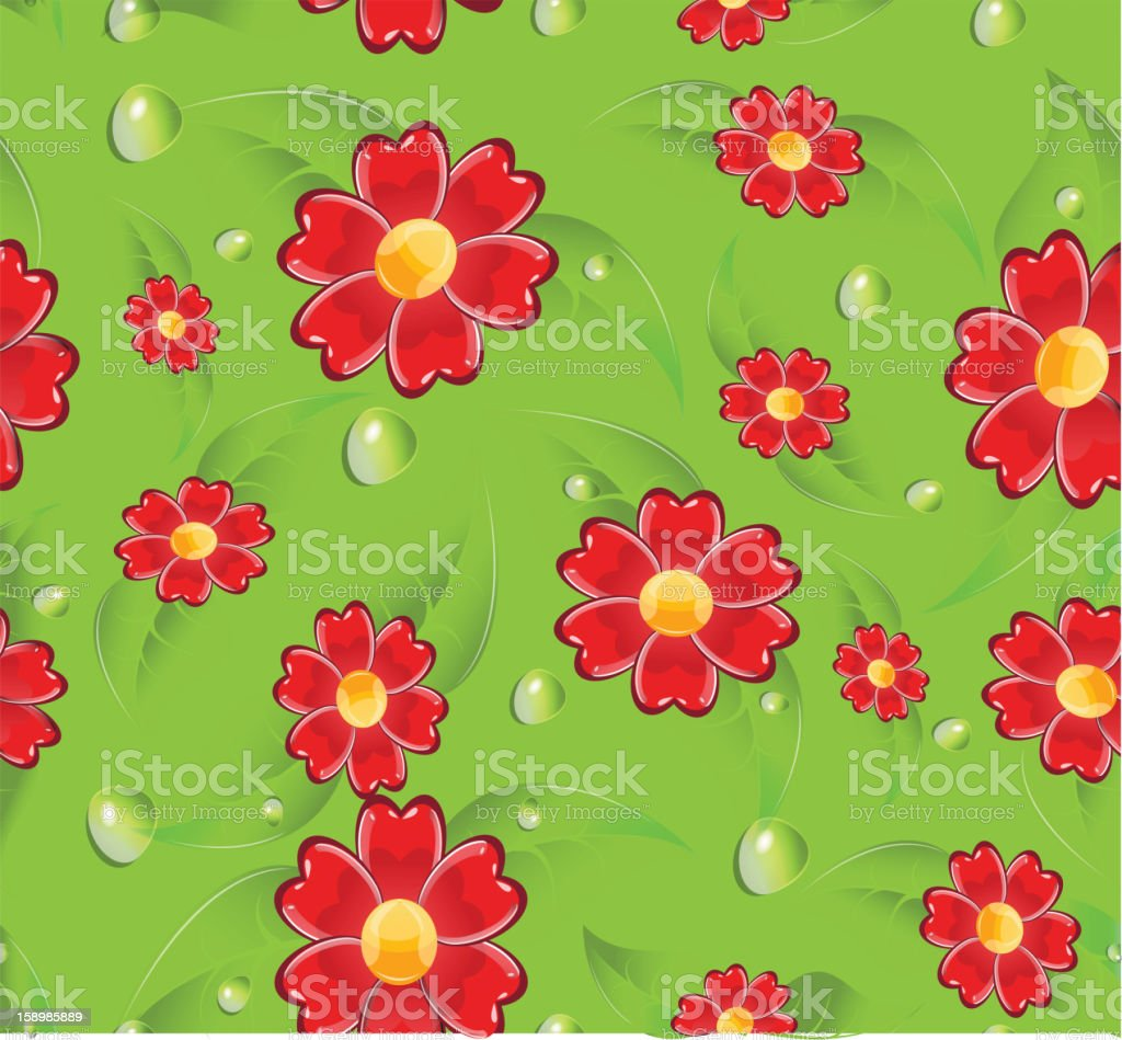 Seamless red flowers royalty-free seamless red flowers stock vector art & more images of abstract