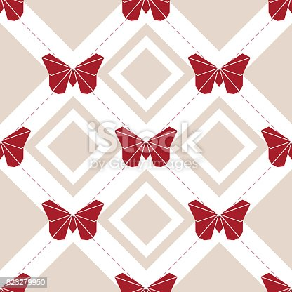 istock seamless red origami butterfly pattern background 823279950