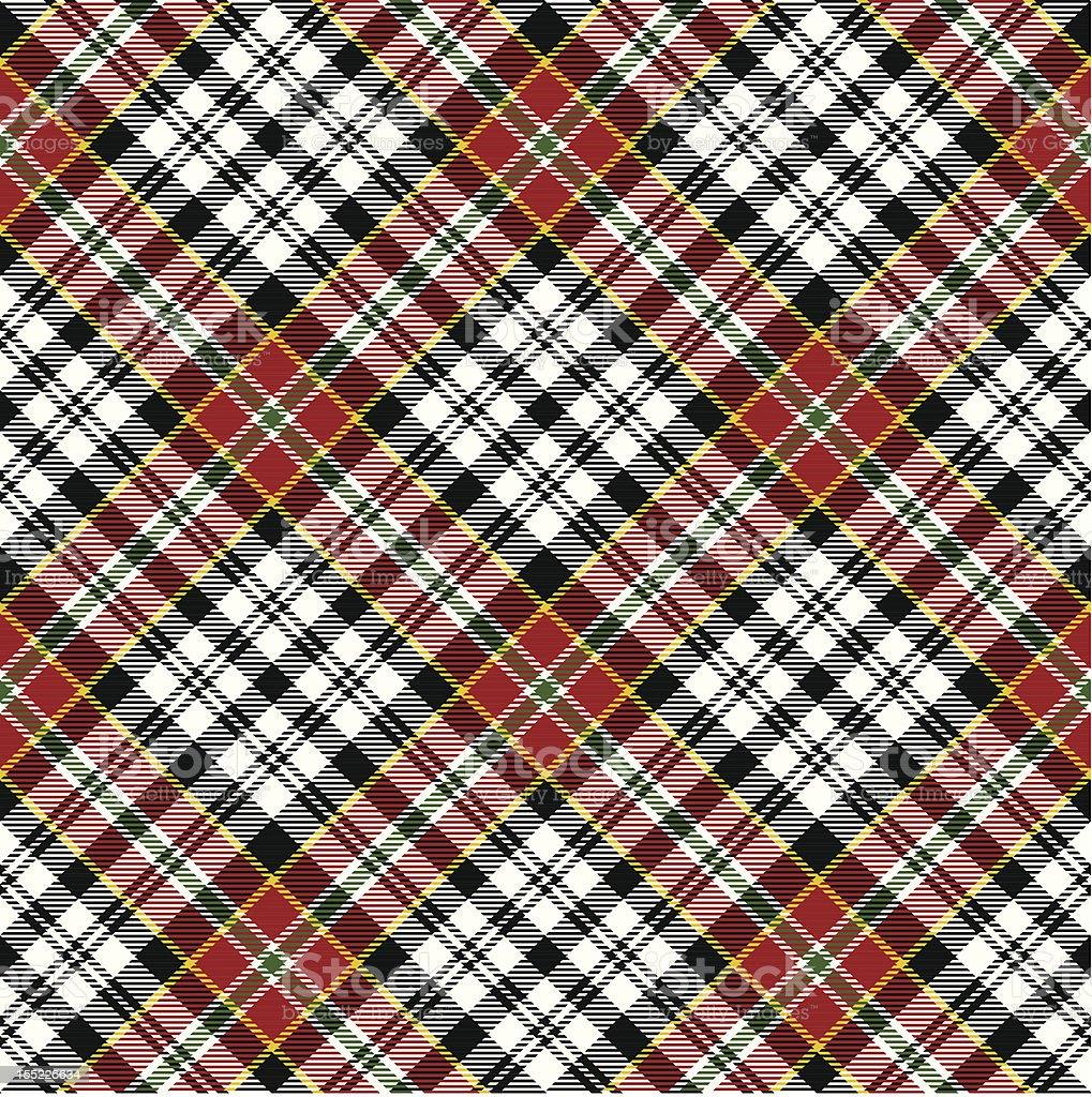 Seamless red tartan royalty-free stock vector art