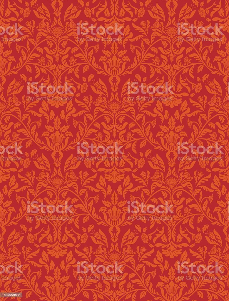 Seamless red wallpaper pattern royalty-free seamless red wallpaper pattern stock vector art & more images of antique