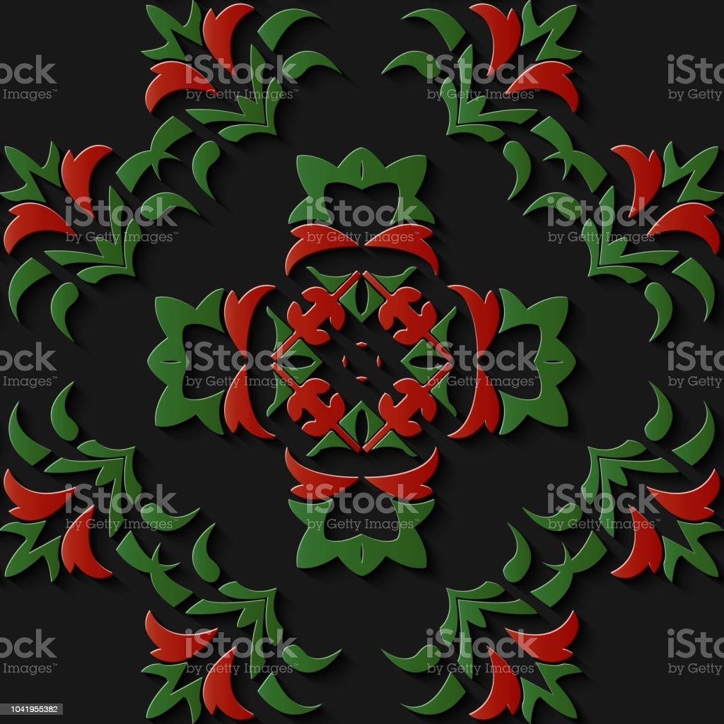 Curva de caracol de jardín botánico de alivio escultura decoración patrón retro cruz marco flor de la vid de hoja - ilustración de arte vectorial