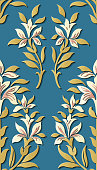 Seamless relief sculpture decoration retro pattern background. Ideal for greeting card or backdrop template design