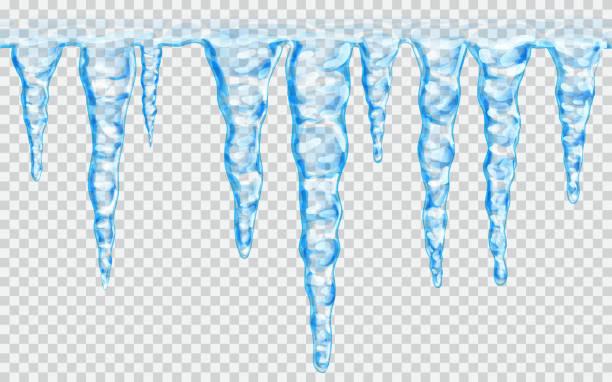 seamless repeatable icicles - eiszapfen stock-grafiken, -clipart, -cartoons und -symbole
