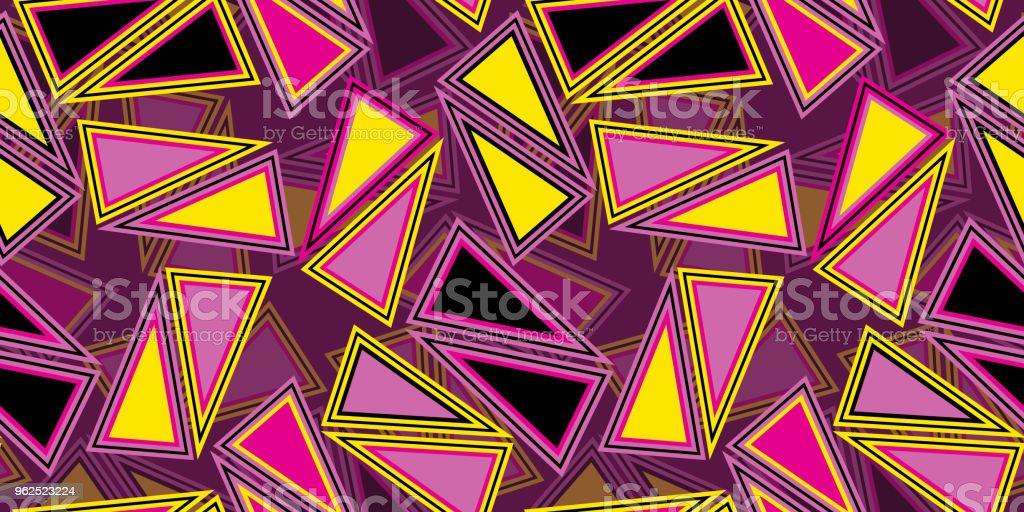 Fundo de repetição contínuo de triângulos - Vetor de Abstrato royalty-free