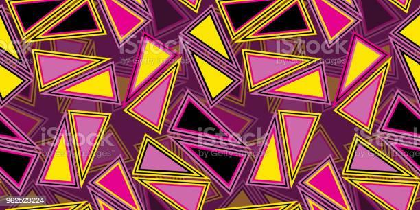 Vetores de Fundo De Repetição Contínuo De Triângulos e mais imagens de Abstrato