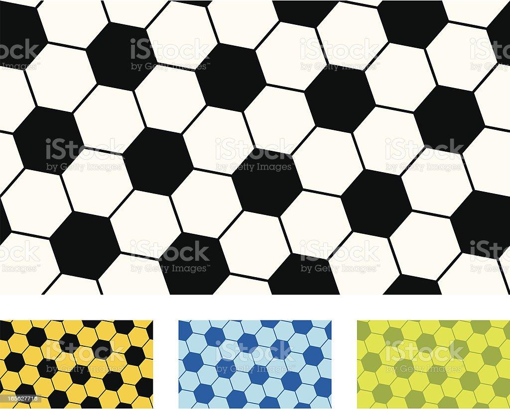 Seamless repeating football pattern vector art illustration
