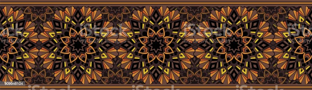 Seamless repeating pattern for border design vector art illustration