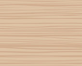 Seamless repeating pattern of plain light brown wood texture background vector illustration