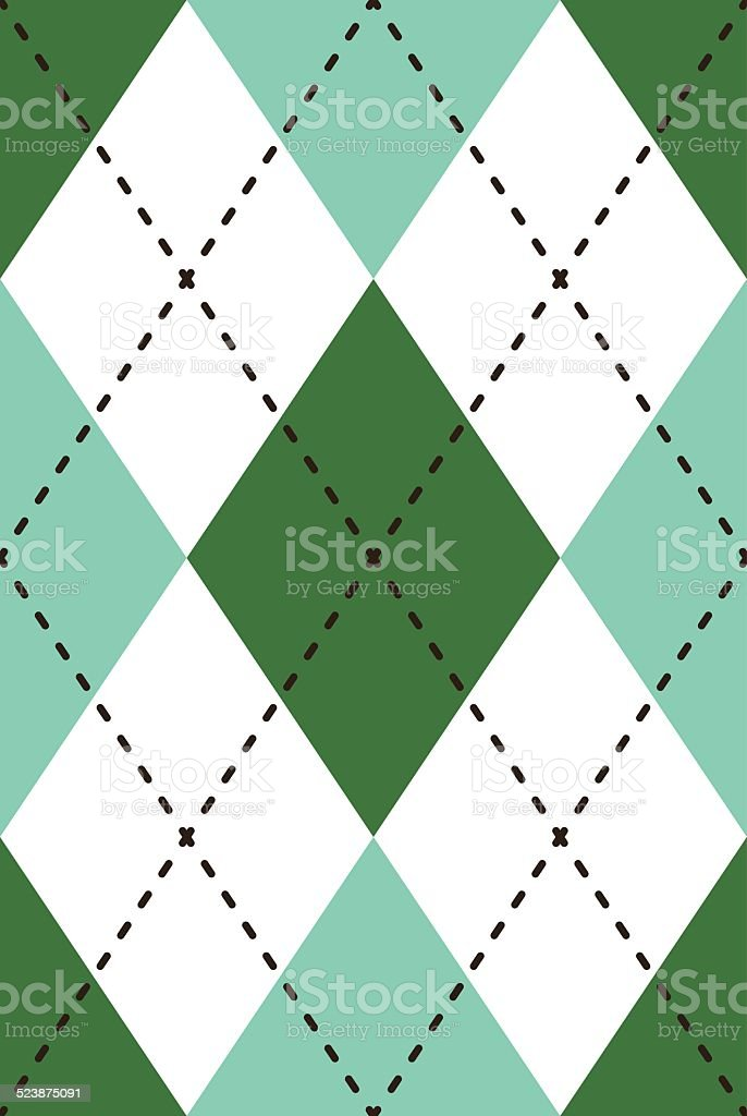 Seamless Retro Argyle Repeating Pattern vector art illustration