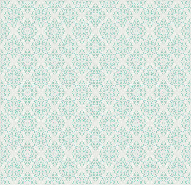 Seamless Retro Background Pattern ( Vector ) Orig curly wallpaper pattern popular with hipster set. bathroom backgrounds stock illustrations