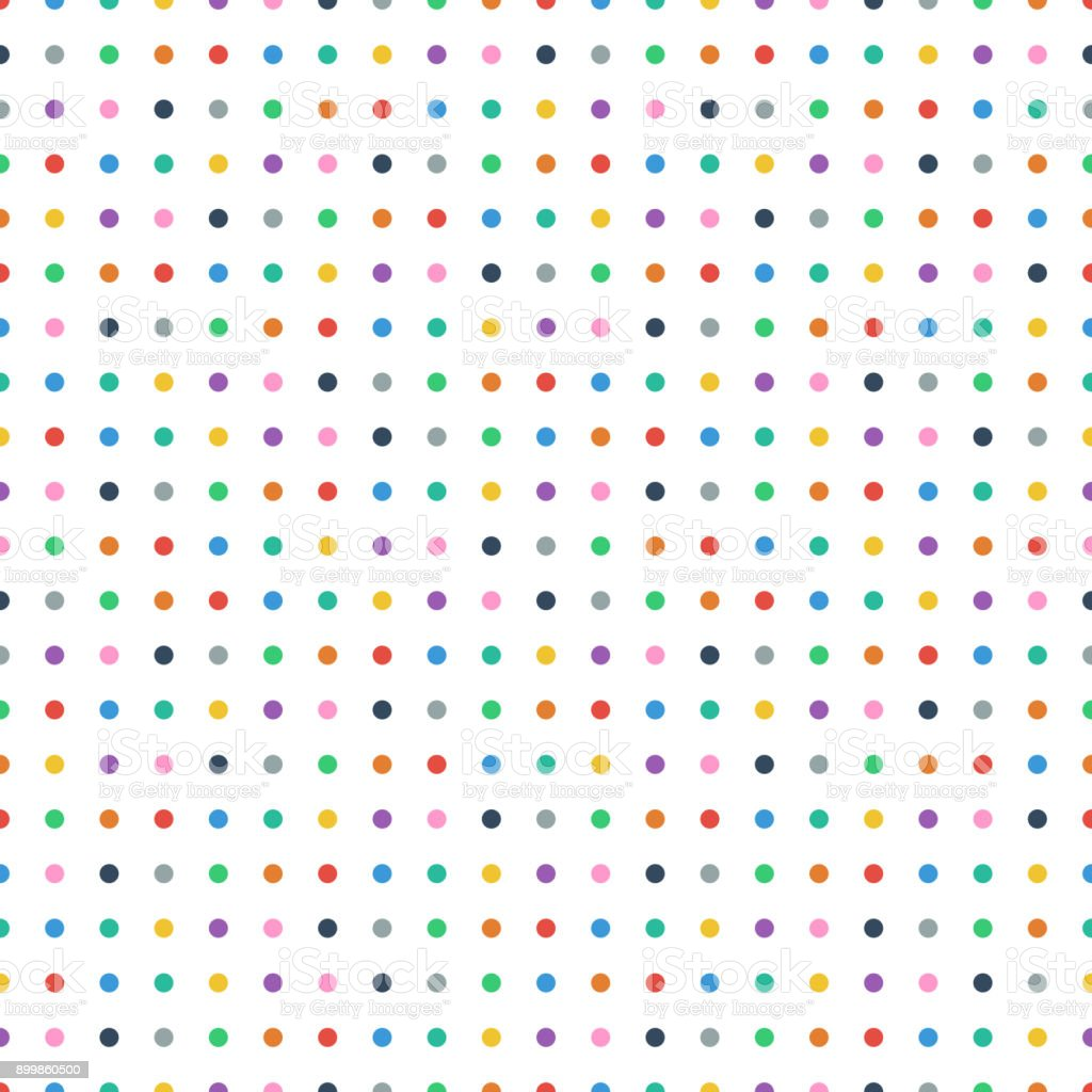 Seamless Retro Colorful Polka Dot Background Pattern Vector Illustration  Stock Illustration - Download Image Now