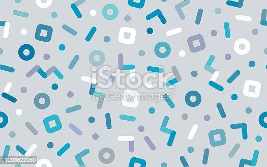 istock Seamless Retro Dash Zig Zag Background 1293822050