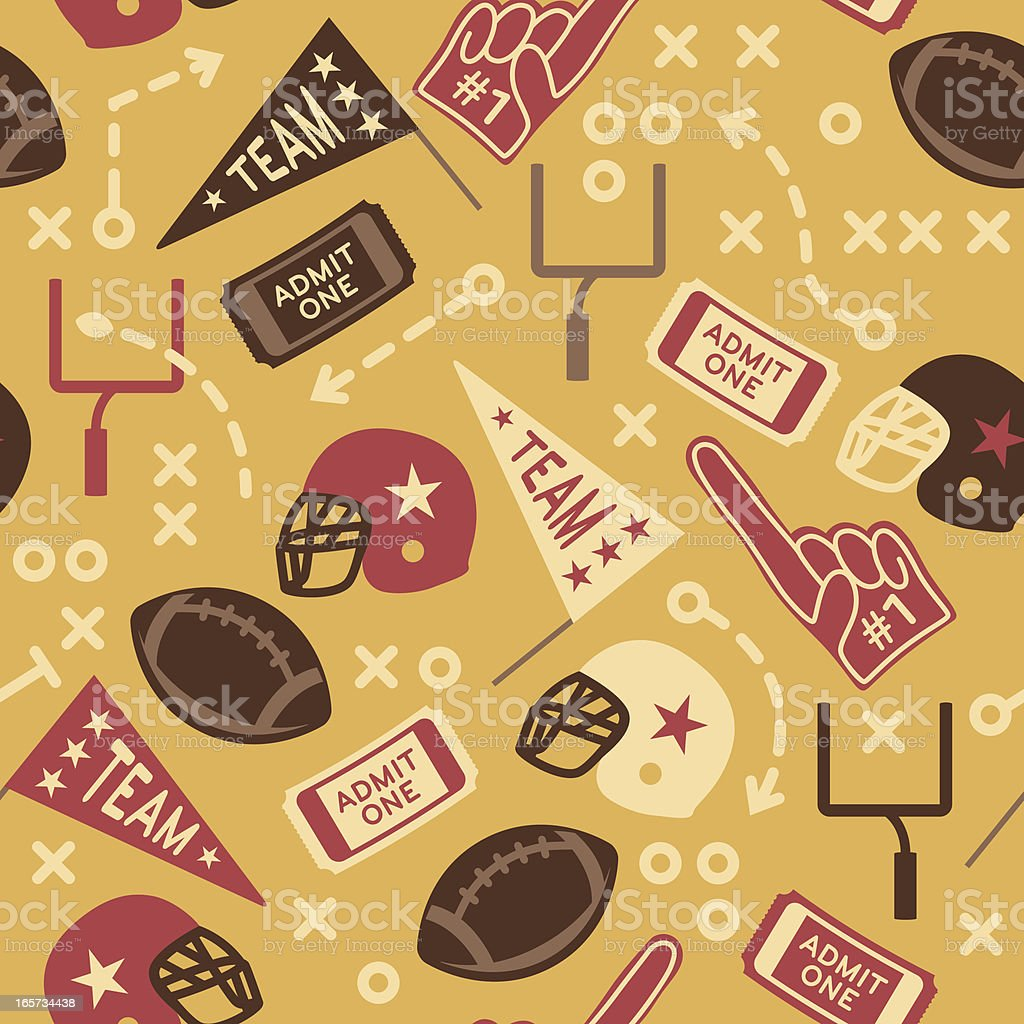 Seamless Retro Football Background royalty-free stock vector art