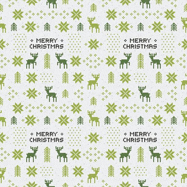 Vectores de Nordic Tejido Sin Costura Patrón De Navidad De Vector ...