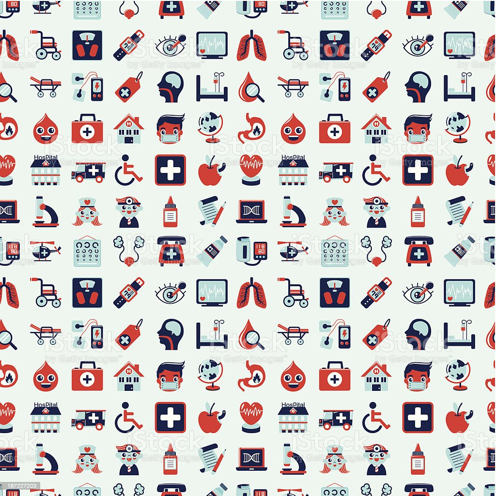 seamless retro Medical pattern royalty-free seamless retro medical pattern stock vector art & more images of abdomen