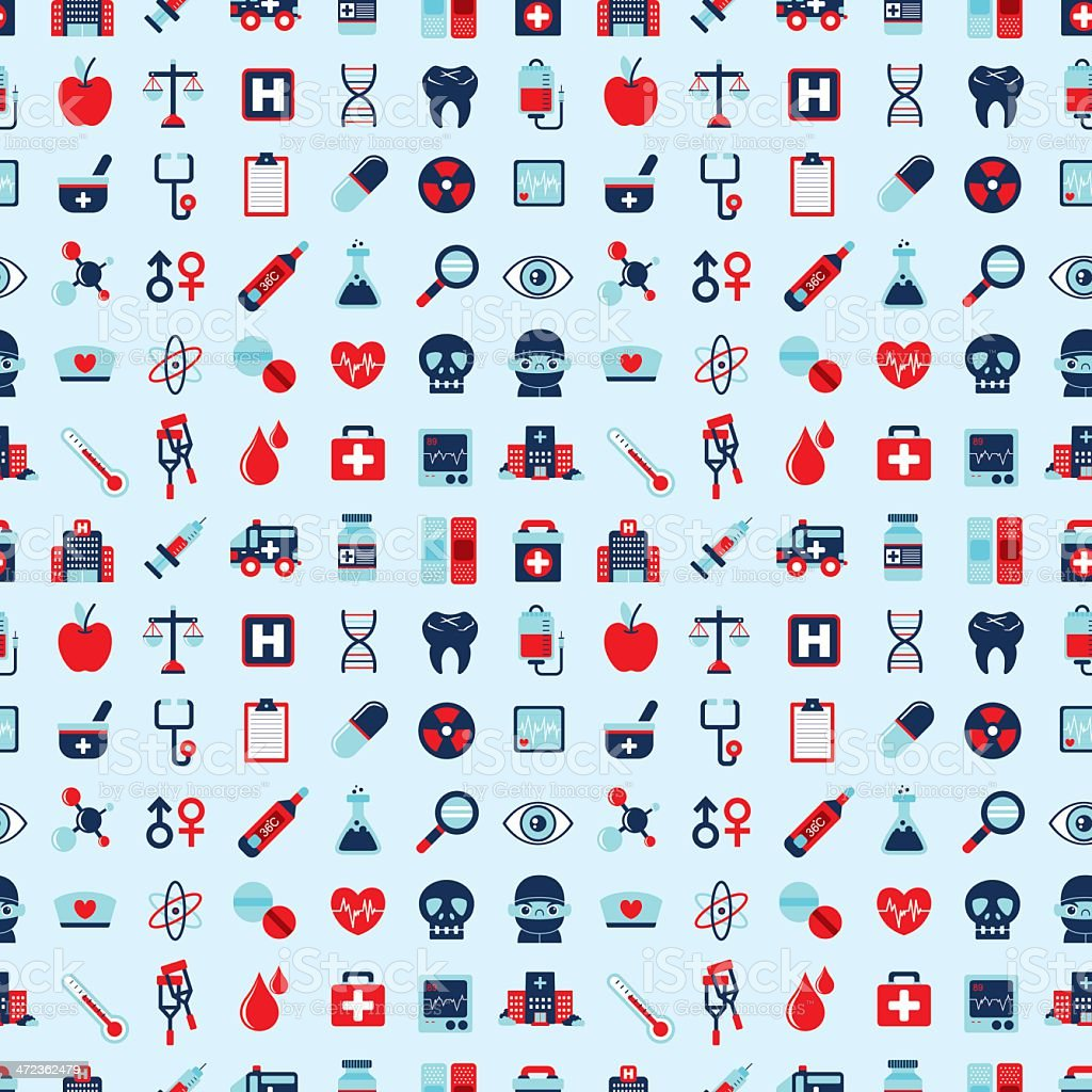 seamless retro Medical pattern royalty-free stock vector art