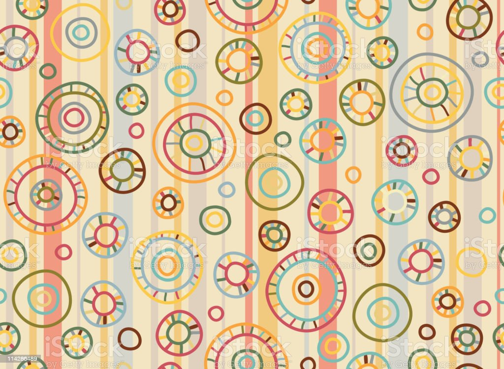Seamless retro pattern. royalty-free stock vector art