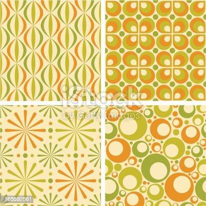 istock Seamless Retro Patterns 165592561