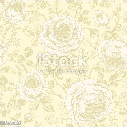 Seamless retro roses