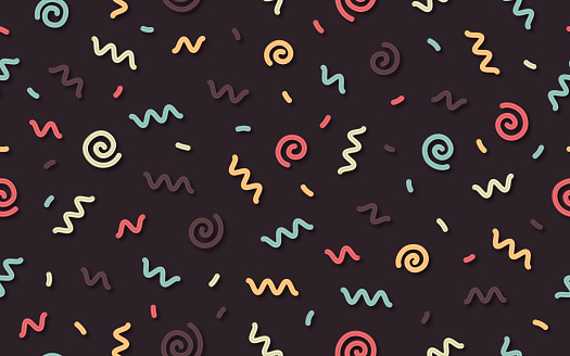 Seamless Retro Squiggle Pattern