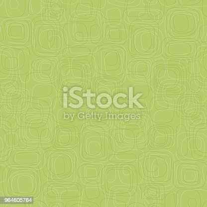 Retro seamless Background of subtle green rounded box shapes in tone on tone pattern