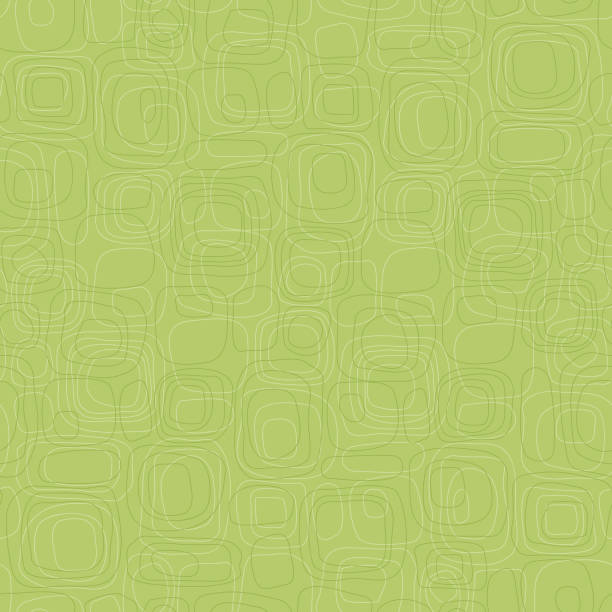 Seamless retro subtle pattern Retro seamless Background of subtle green rounded box shapes in tone on tone pattern kitsch stock illustrations