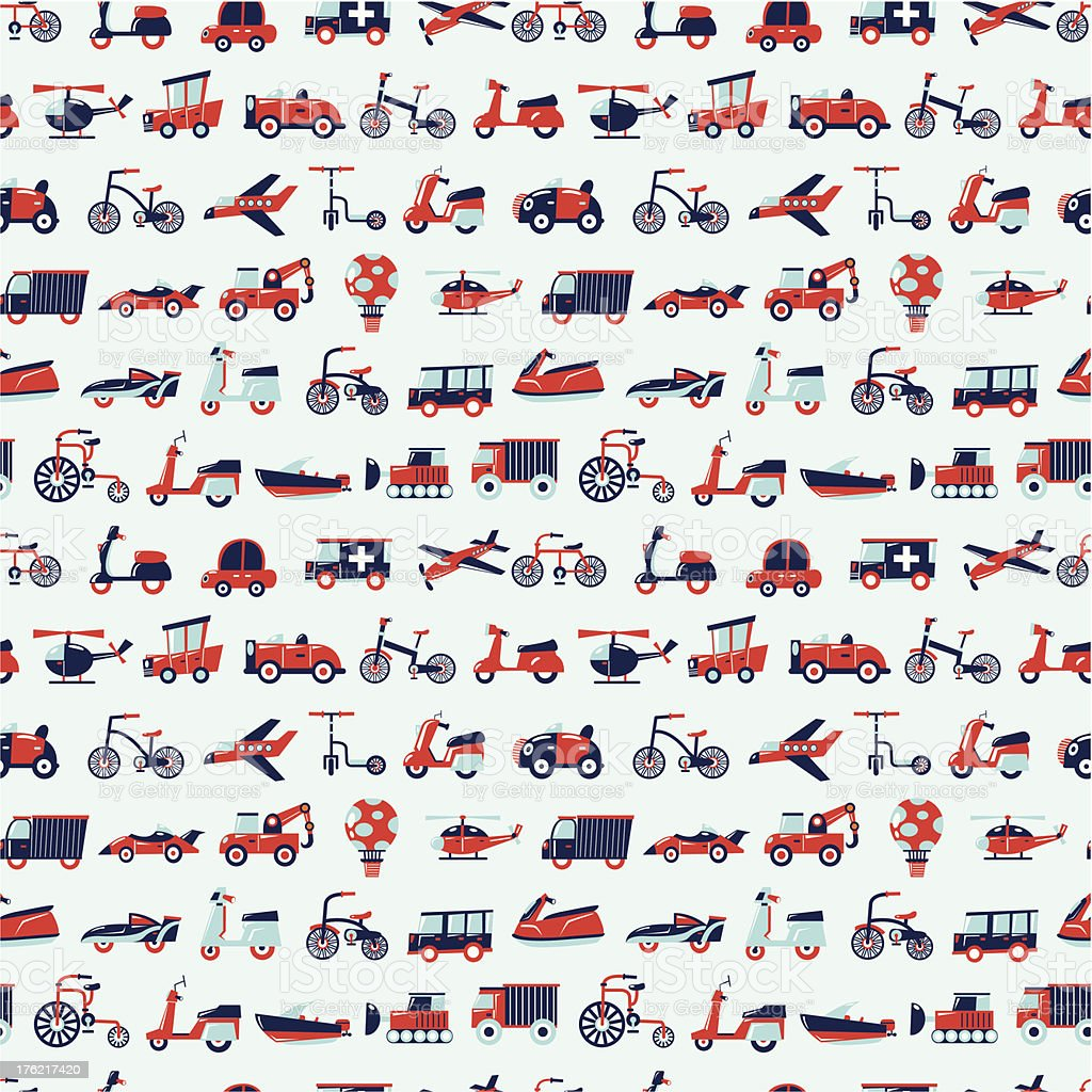 seamless retro transport pattern royalty-free seamless retro transport pattern stock vector art & more images of air vehicle