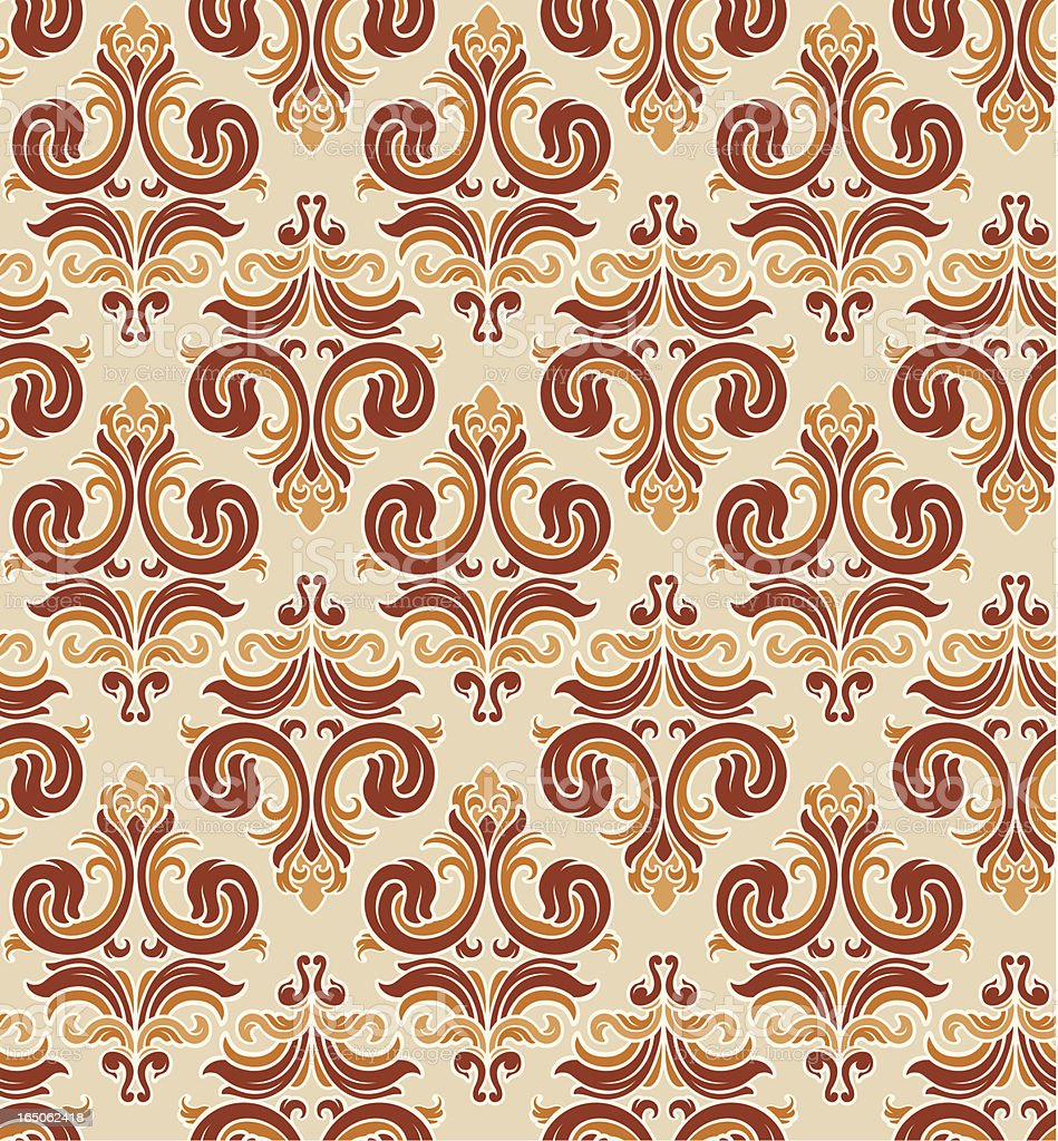 Seamless retro wallpaper background royalty-free seamless retro wallpaper background stock vector art & more images of antique