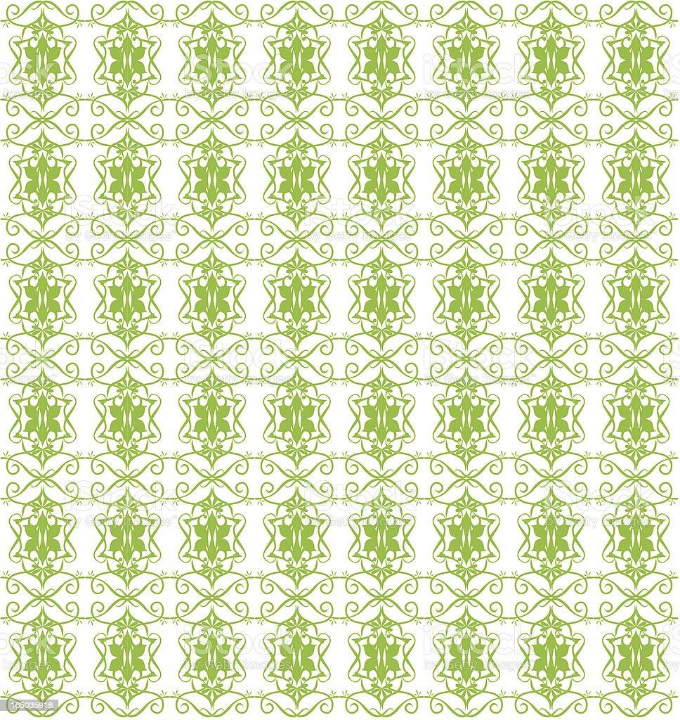 Seamless Retro Wallpaper Tile ( Vector ) vector art illustration