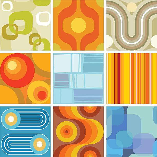 seamless retro wallpaper tiles vector art illustration
