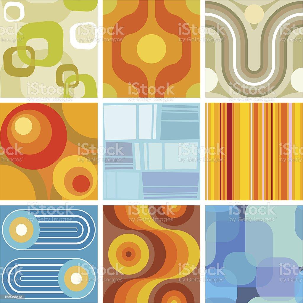 De papel de parede sem costura retro azulejos - ilustração de arte em vetor