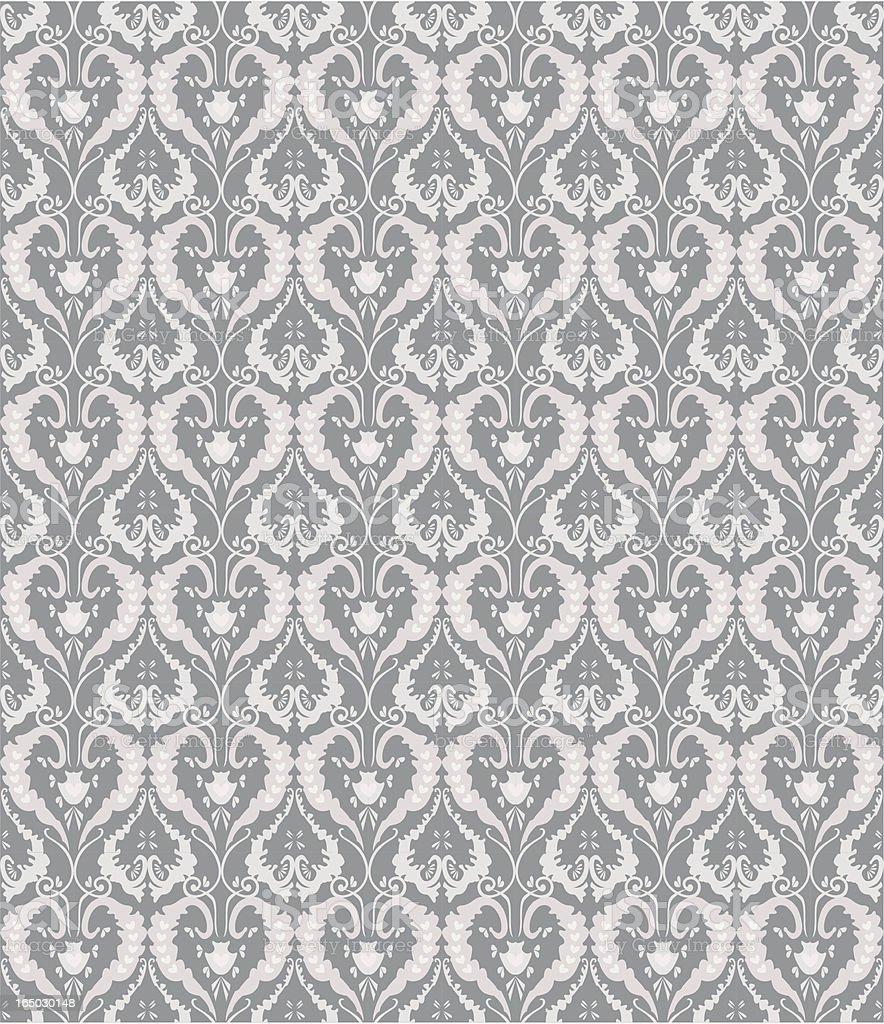 Seamless Retro Wallpaper ( Vector ) vector art illustration