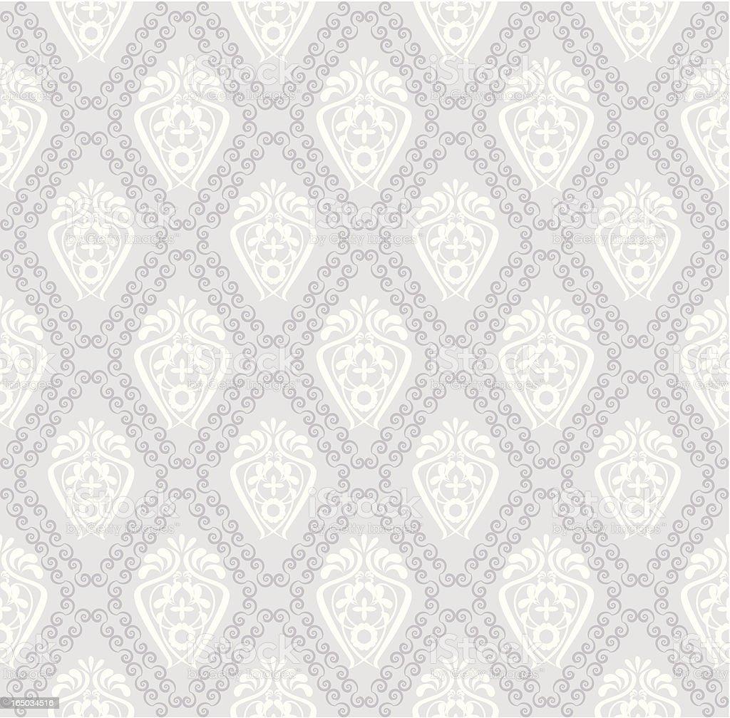 Seamless Retro Wallpaper (Vector) vector art illustration