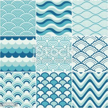 istock seamless retro wave pattern 450508827