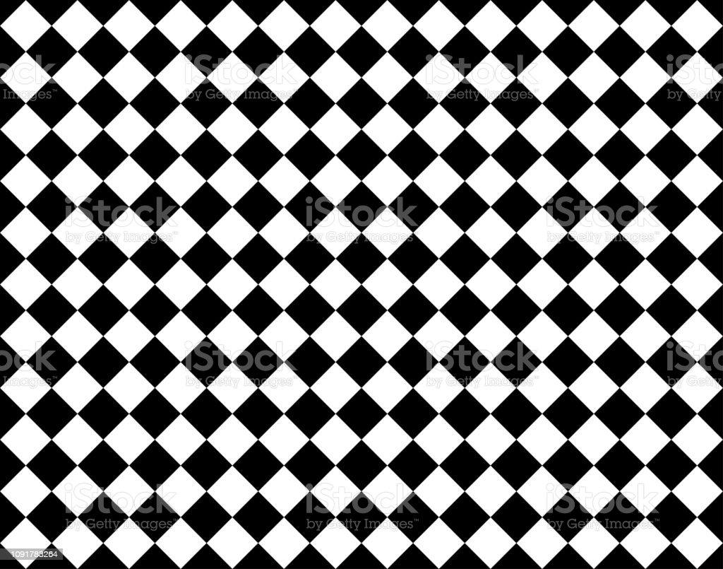 Ilustración De Vector De Patrón Blanco Y Negro Wallpaper