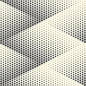 Seamless Rhombus Background. Vector Halftone Texture. Abstract Modern Graphic Pattern
