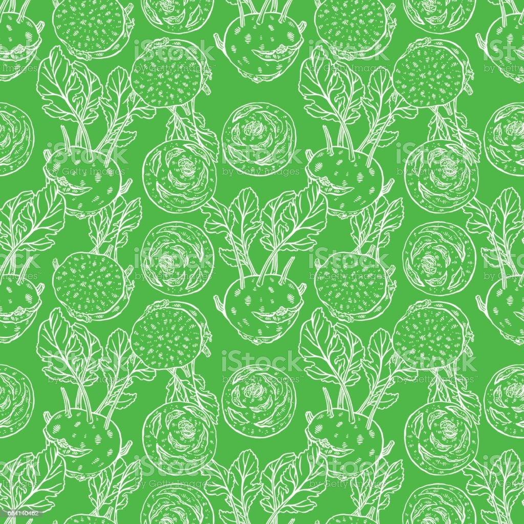 seamless ripe sketch kohlrabi seamless ripe sketch kohlrabi - stockowe grafiki wektorowe i więcej obrazów bazgroły - rysunek royalty-free