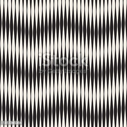 istock Seamless ripple pattern. Repeating vector texture. Wavy graphic background. Simple stripes 1312365354
