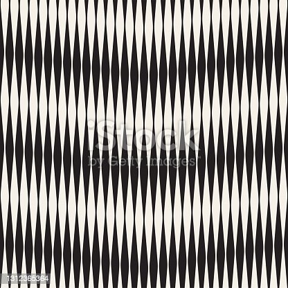 istock Seamless ripple pattern. Repeating vector texture. Wavy graphic background. Simple stripes 1312365364