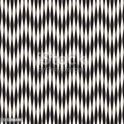 istock Seamless ripple pattern. Repeating vector texture. Wavy graphic background. Simple stripes 1312365499