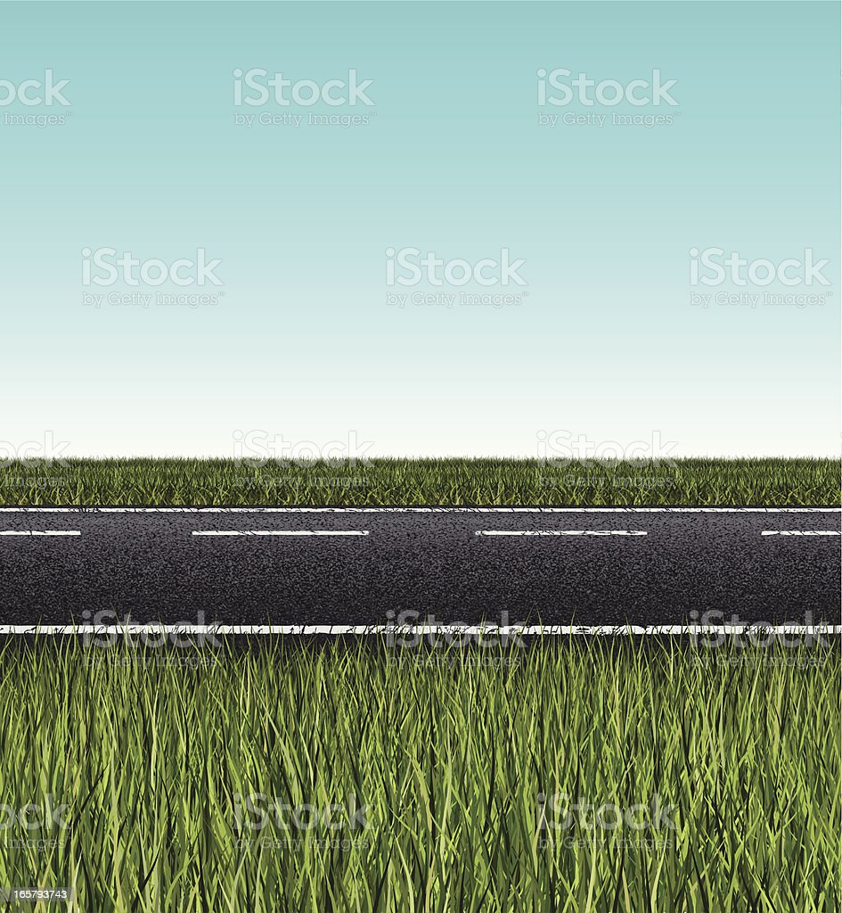 seamless road banner royalty-free stock vector art