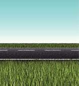 seamless road banner