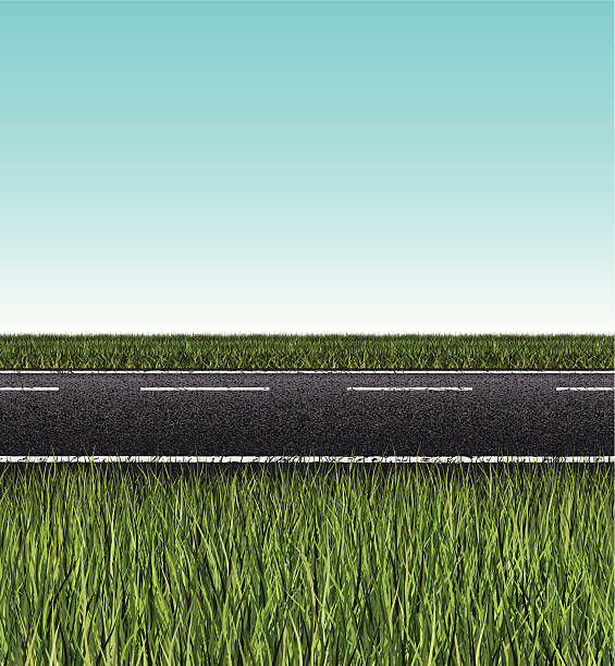nahtlose road banner - landstraße stock-grafiken, -clipart, -cartoons und -symbole