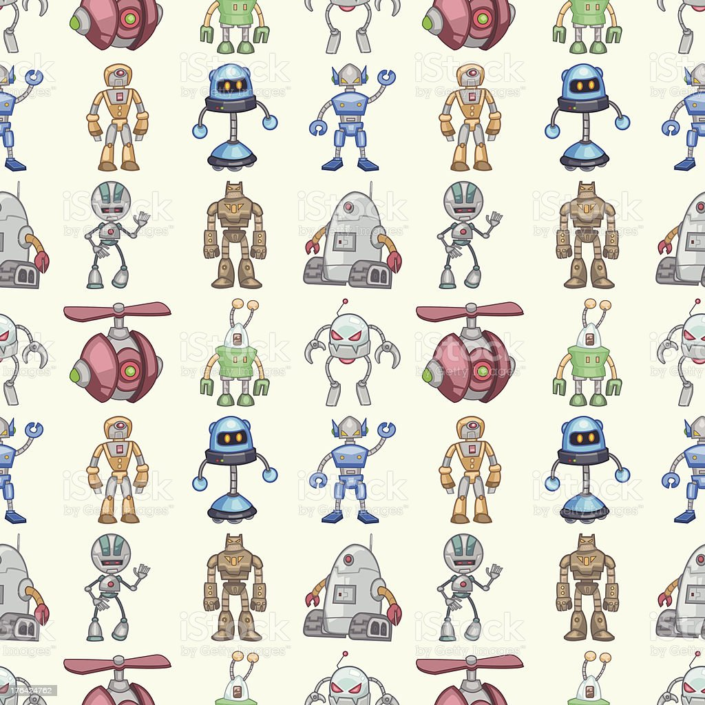 seamless Robot pattern royalty-free seamless robot pattern stock vector art & more images of alien