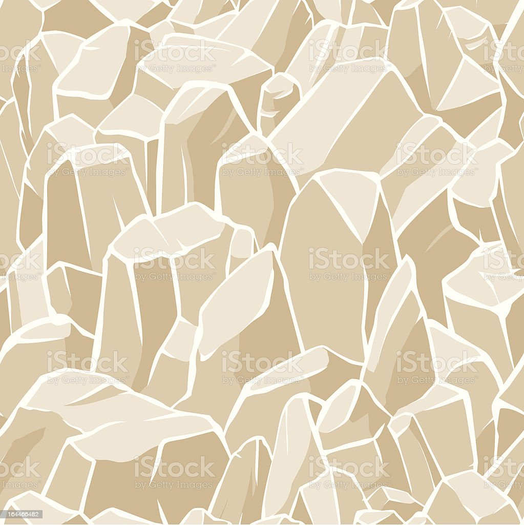 Seamless rocky field background royalty-free stock vector art