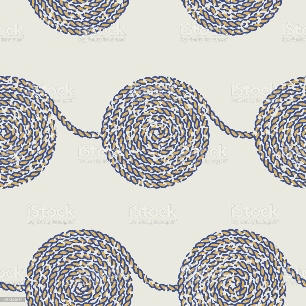 Seamless rope pattern royalty-free seamless rope pattern stock vector art & more images of art