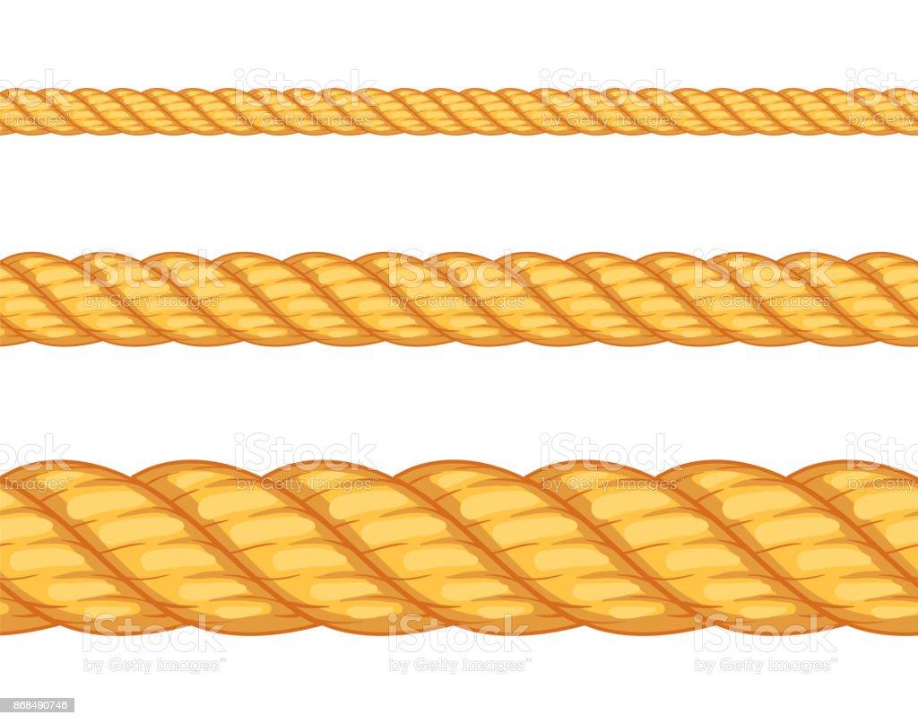 Seamless rope. Vector illustration vector art illustration