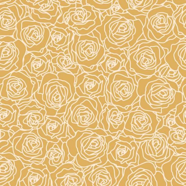 Seamless Rose Wallpaper vector art illustration