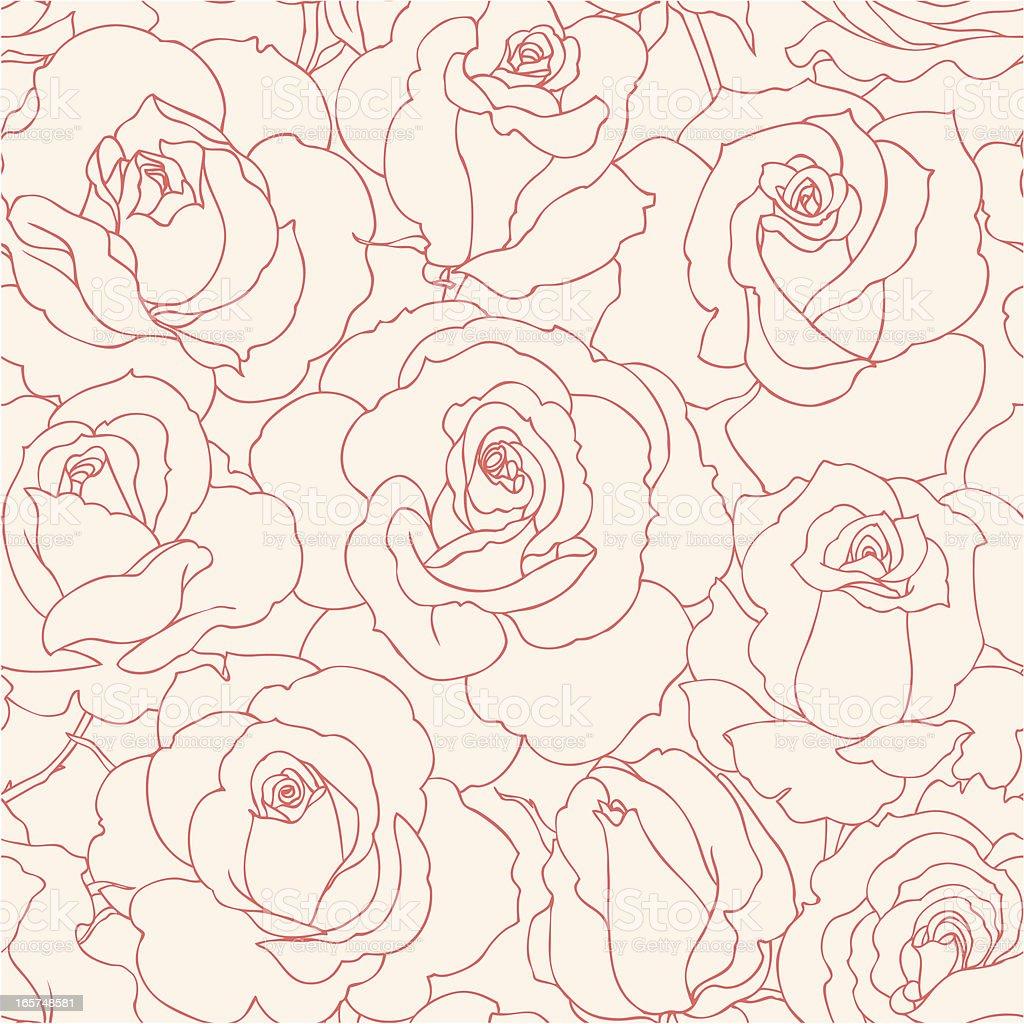 シームレスのバラ ベクターアートイラスト
