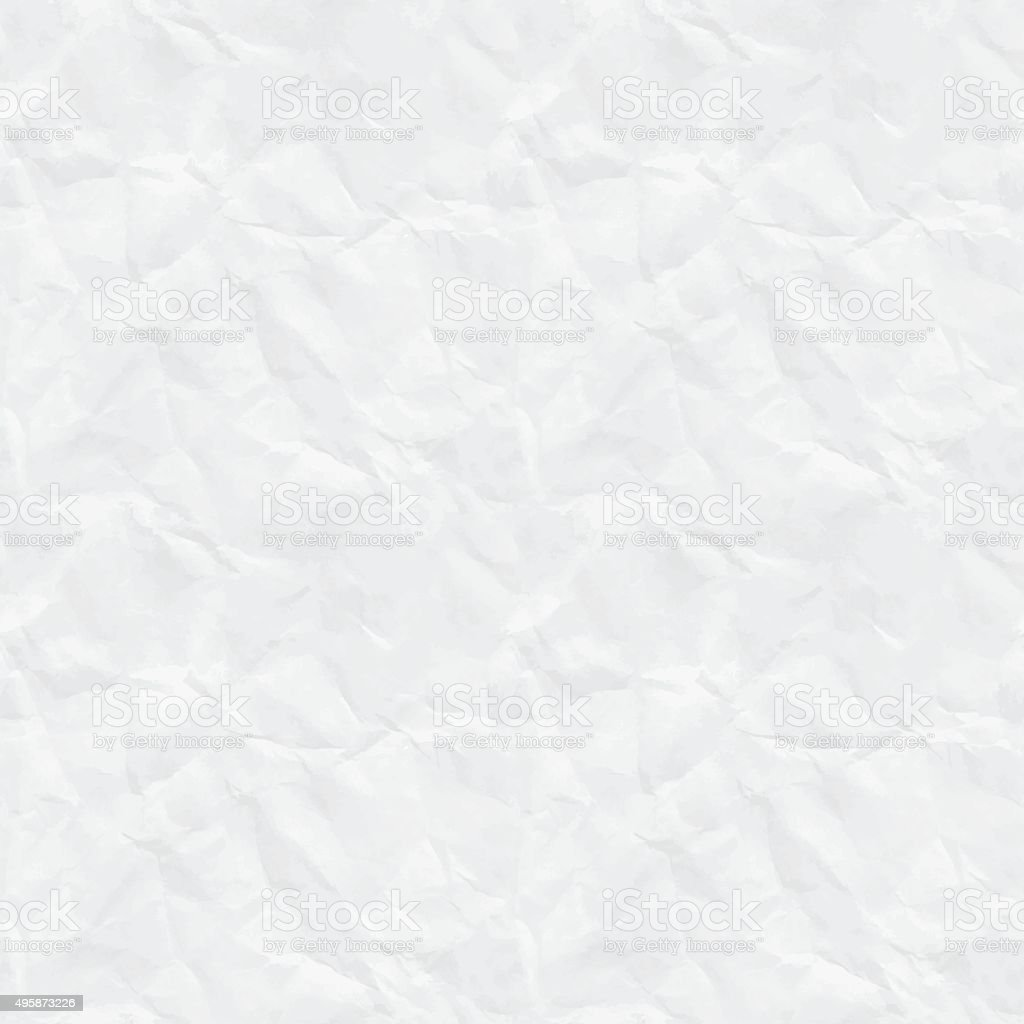 Seamless rumpled paper texture vector art illustration